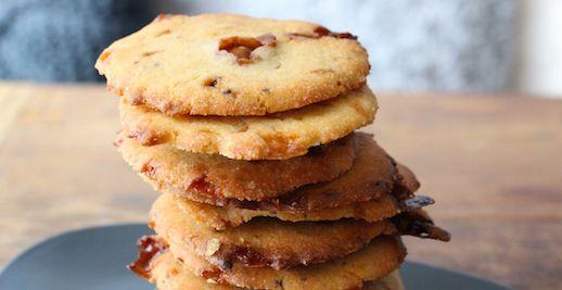 Choco & caramel cookies