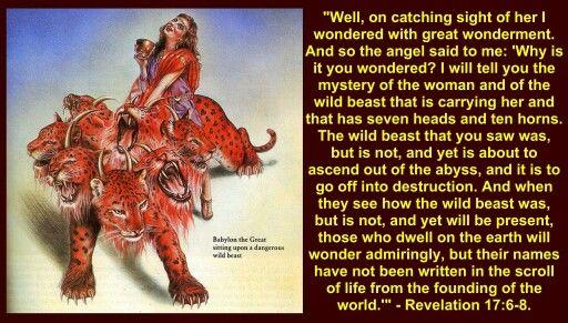 Revelation 17 6 8 Book Of Revelation 16 22