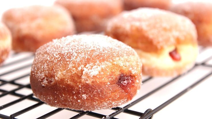 Homemade Jelly Donut Recipe - Laura Vitale - Laura in the Kitchen Episod...