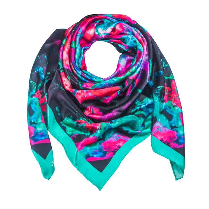 Indus Neo 1 - Green Silk Scarf - Neo Collection – Silk and Stone