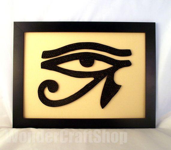 Horus Eye Eye of Ra egyptian eye home decor by WonderCraftShop, $45.00