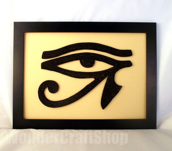 Horus Eye Eye of Ra egyptian eye home decor by WonderCraftShop, $45.00