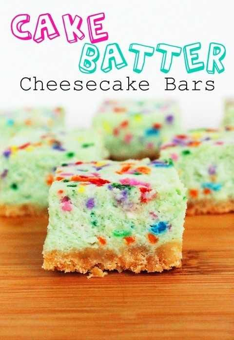 Cake Batter Cheesecake, but don't use the food coloring.