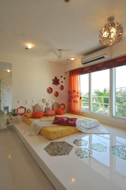 : classic Bedroom by Mybeautifulife hippie Indian eclectic bedroom floor bed sleek Indian monsoon