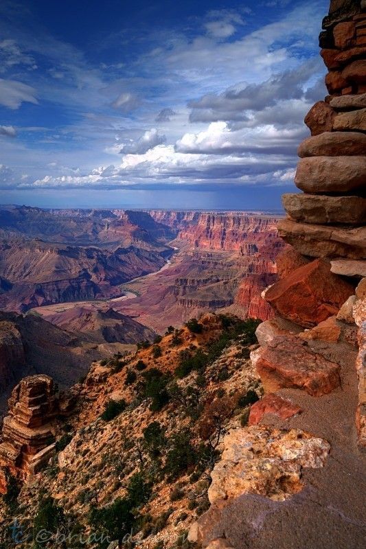 Rockpile - The Grand Canyon. I'd love to fly over the Grand Canyon and then go on a horse trek in the Grand Canyon.