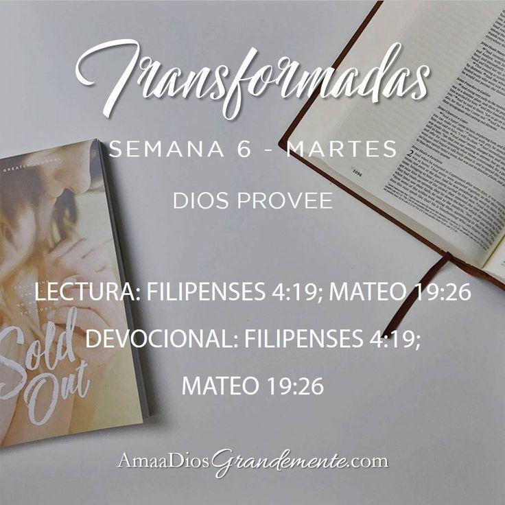 Lectura y Devocional Martes - Semana 6  #Transformadas #DiscipulosdeJesus #Discipulado #ComunidadADG #Devocionalparamujeres #ADGenespanol #AmaaDiosGrandemente #Biblia #Dios