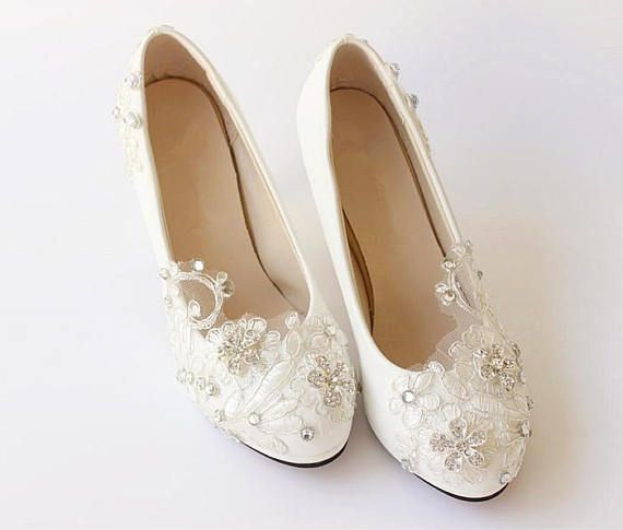 Hey, I found this really awesome Etsy listing at https://www.etsy.com/au/listing/568124096/ivory-white-lace-wedding-shoes-bridal