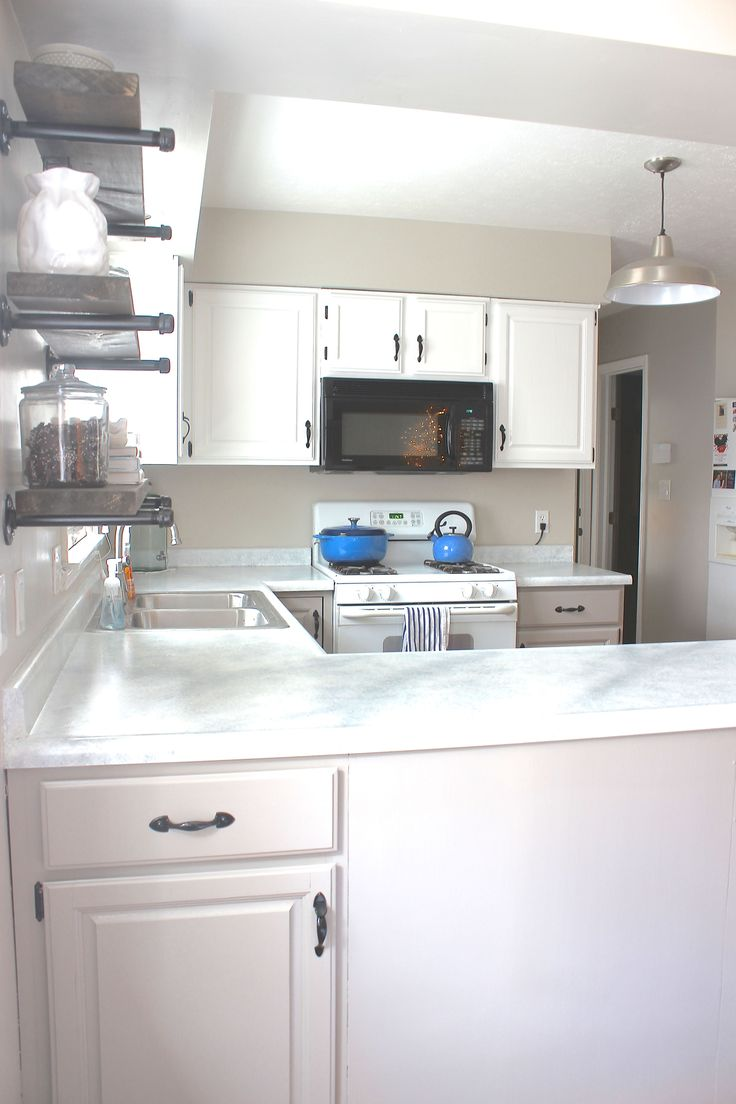 ... for under $100 using Giani Granite! Kitchen makeover on a budget. DIY