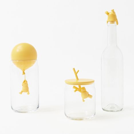 Nendo designs Winnie-the-Pooh glassware for Walt Disney Japan