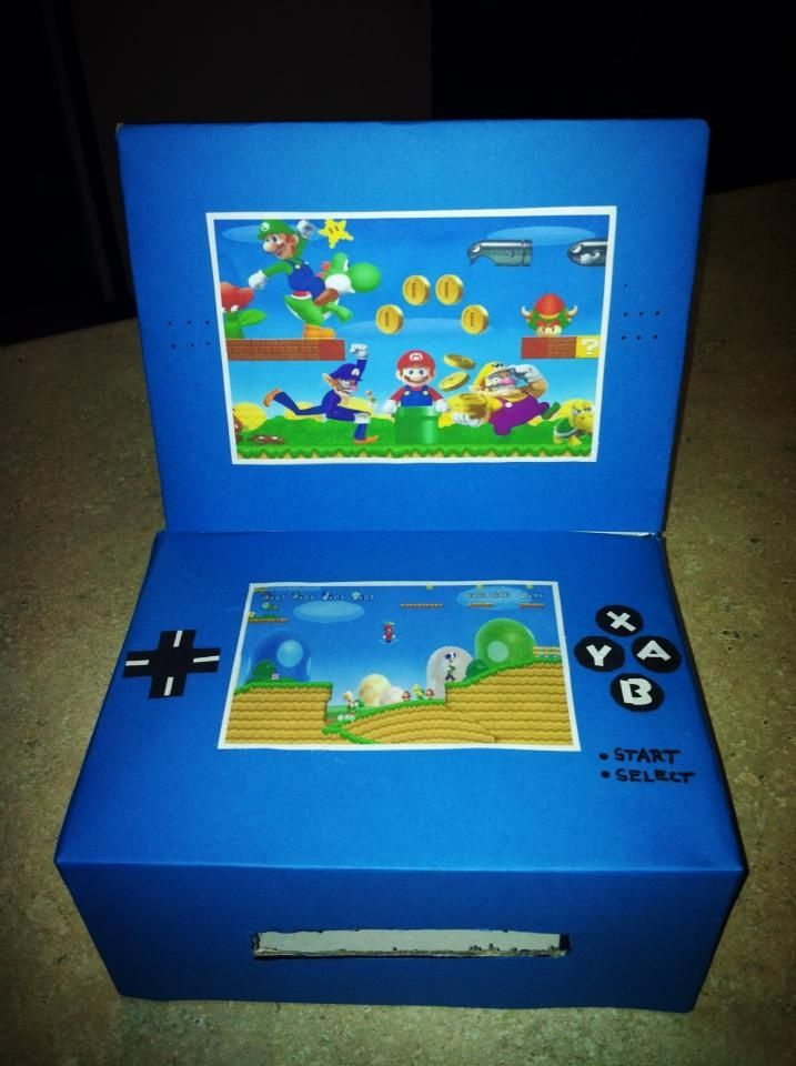 Nintendo DS Valentine's Day box.  How to make your own!