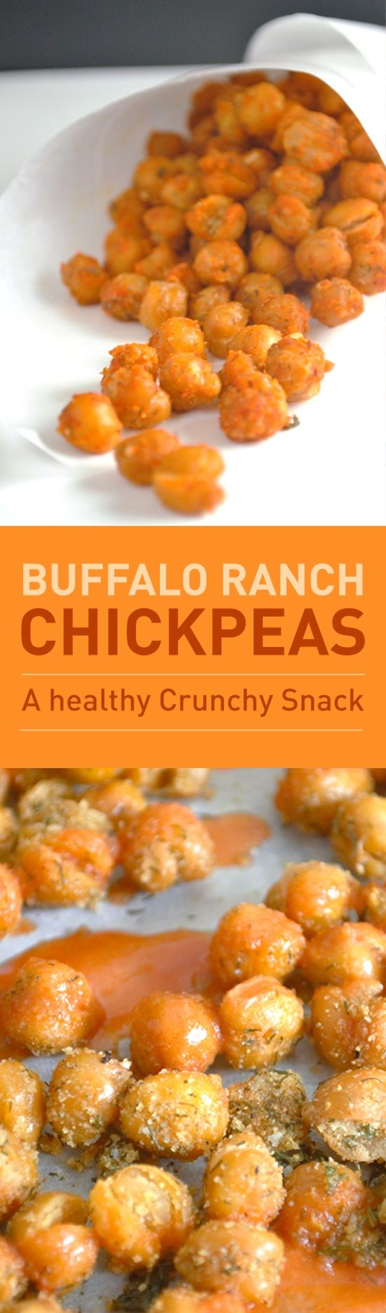 Cool ranch dressing with crispy spicy buffalo wings are a classic comfort food combination. These chickpeas make it possible to enjoy the flavors of buffalo and ranch without the fried chicken wing. Plus they even give you that nice crunch.