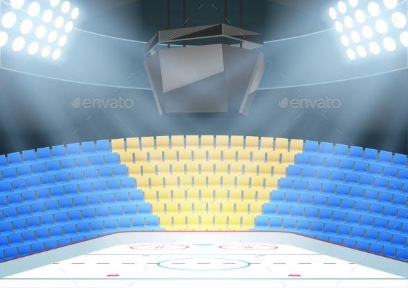 Backgrounds Of Ice Hockey Arena Hockey Arena Ice Hockey Hockey