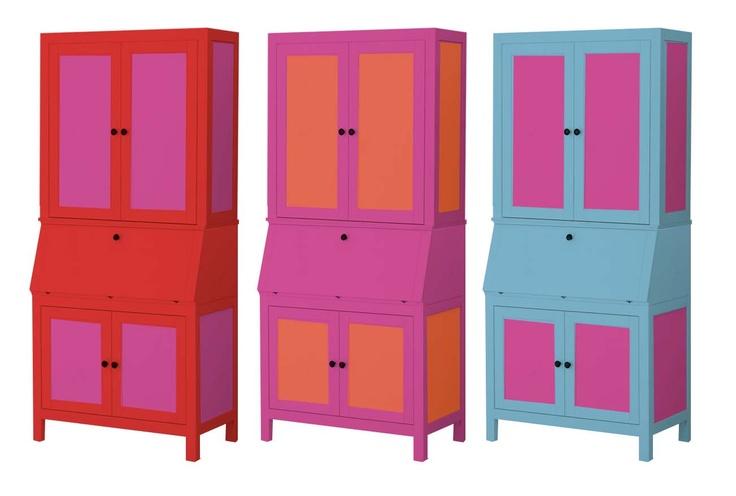 digitally painted ikea hemnes secretary for the home. Black Bedroom Furniture Sets. Home Design Ideas