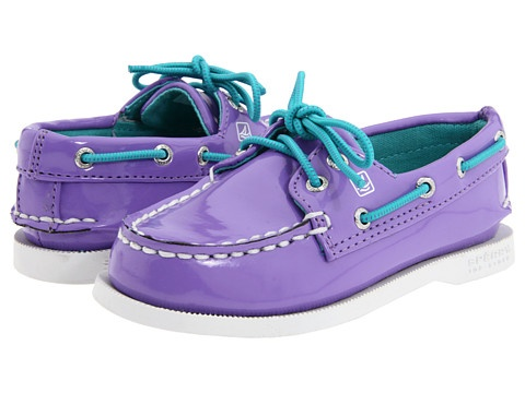 Purple Patent Top-sider by Sperry Kids