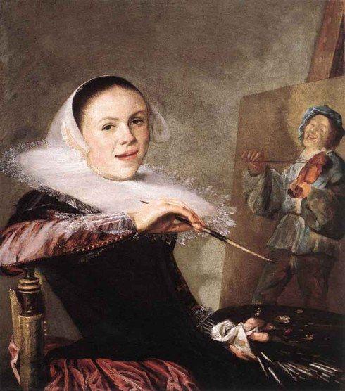 "Judith Leyster (1609, Haarlem - 1660, Heemstede), ""Autoritratto"" / ""Self Portrait"", ca. 1635, Olio su tela / Oil on canvas, 72.3 x 65.3 cm, National Gallery of Art, Washington"