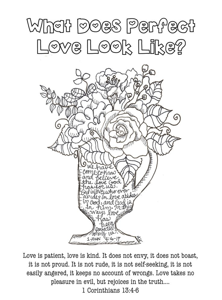 Free Coloring - Bible Journaling Scripture 1 Corinthians ...