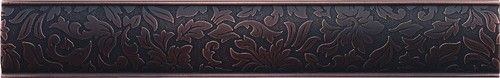 Cast Metal Decoratives - Dark Oil Rubbed Bronze Dorset Damask Border 2x12