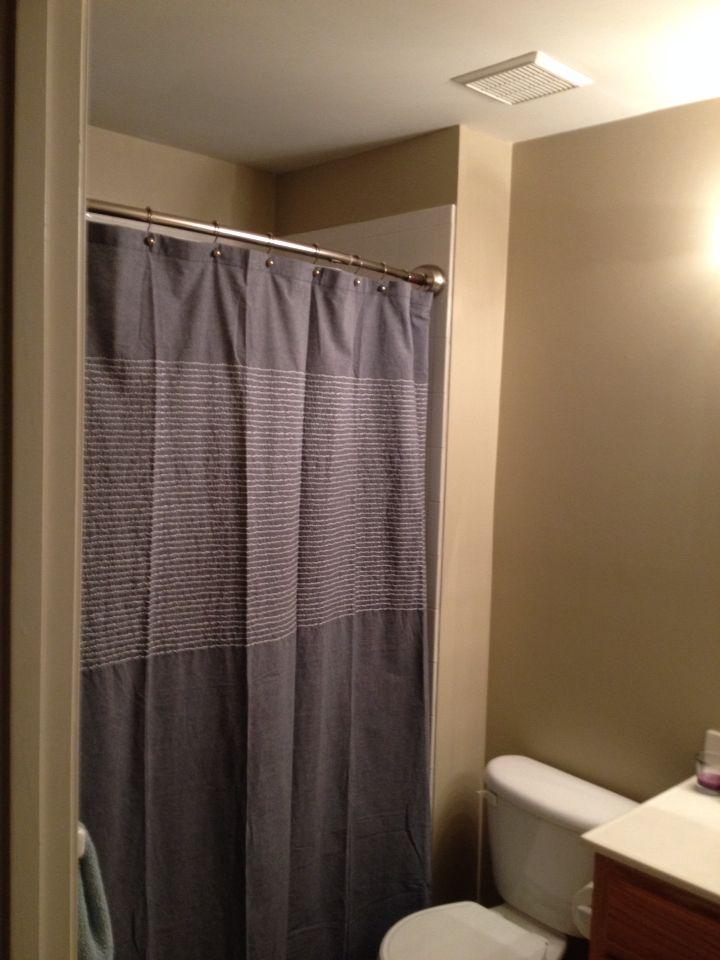 Benjamin Moore Bennington Gray Bathroom