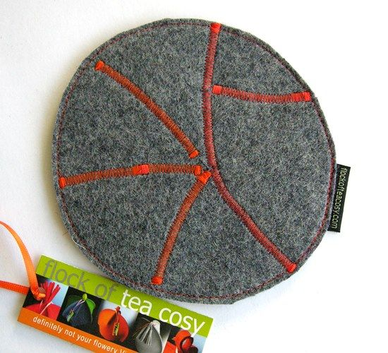 """Teapot trivet -- equally useful for coffee pots, damp vases and porridge bowls.  (approx 6""""x5"""")  #berecycled #upcycled #puzzlepiece #trivet #coaster #set #industrial #wool #felt #hostess #gift #housewarming #teapot #eco #concious #friendly #green #thinking #design #modern #handmade #artist #minimalist"""