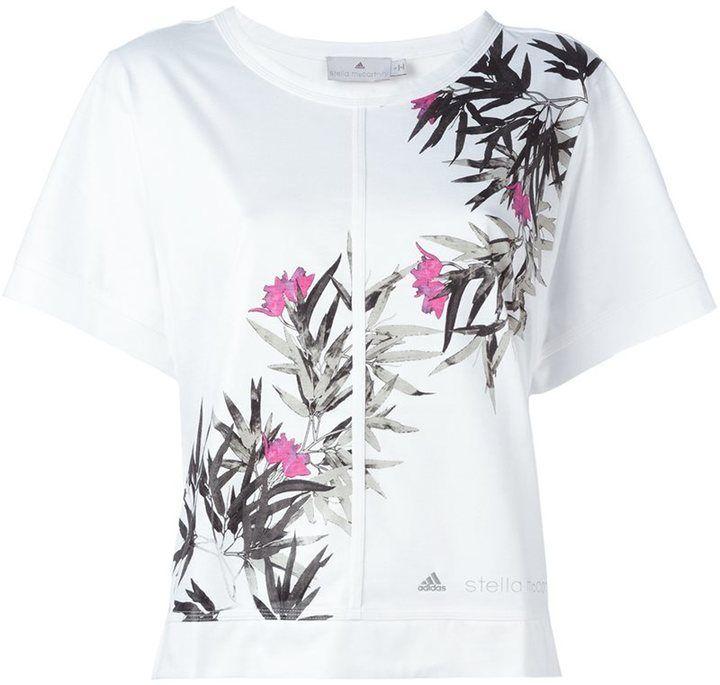 Adidas By Stella Mccartney floral print T-shirt