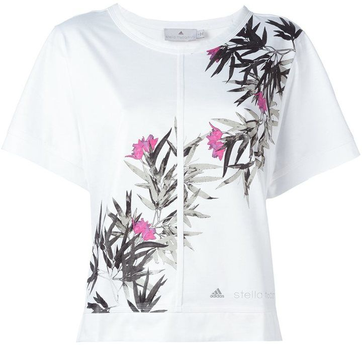 Adidas By Stella Mccartney floral print T-shirt