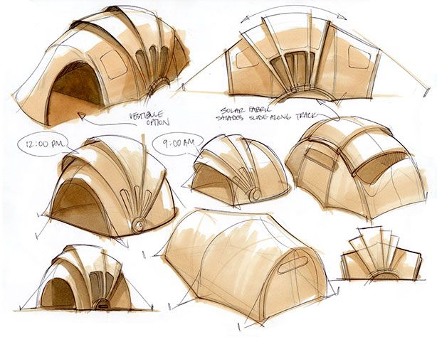Orange Solar Tent Product Design by Kaleidoscope