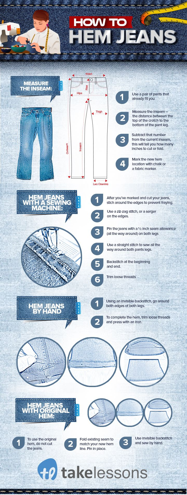 How to Hem Jeans: A Step-by-Step Guide for Beginners [Infographic]