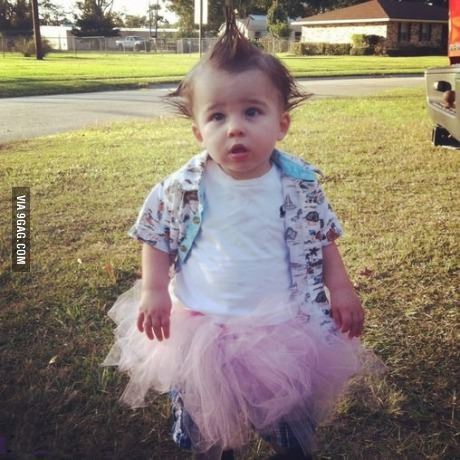 Ace Ventura baby boy Halloween.  Could so see my brother doing this to his kid!!!