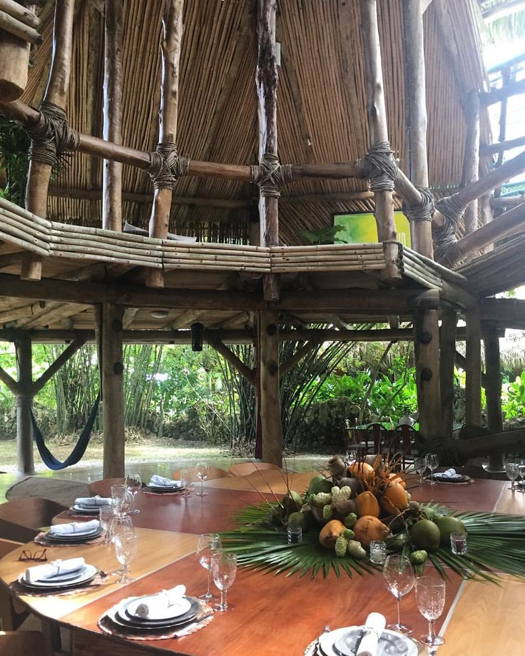 Beautiful Tropical Table Setting At My Cousinu0027s Oscar And Ninotchka Imbert  Impressive Tree Style House, Called