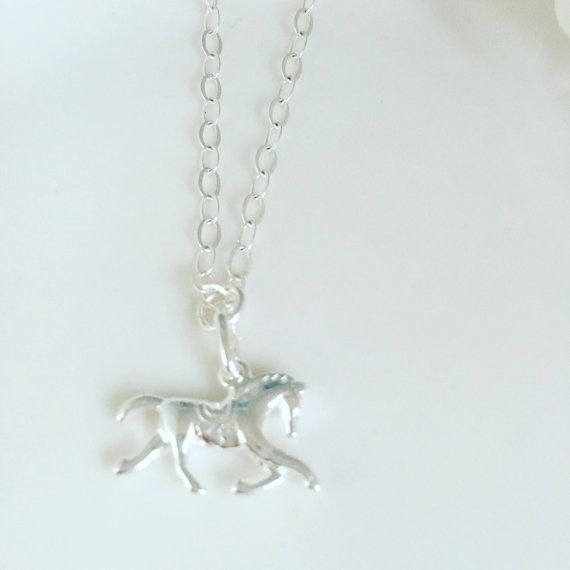 Sterling silver horse necklace by Charlotte Farr. #equestrian #equestriangift #horsenecklace