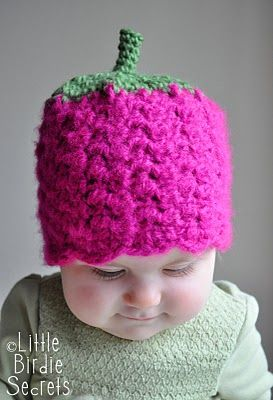 Raspberry hatFree Crochet, Crochet Hats, Hat Patterns, Baby Crochet, Baby Hats, Raspberries Hats, Beanie Hats, Crochet Patterns, Hats Pattern