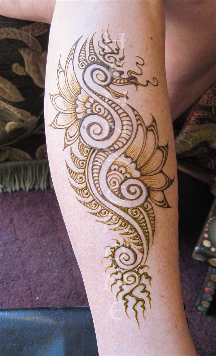 Henna Designs For Inner Arm: Finding Your Inner Dragon. Fusing Mehndi With Fantasy