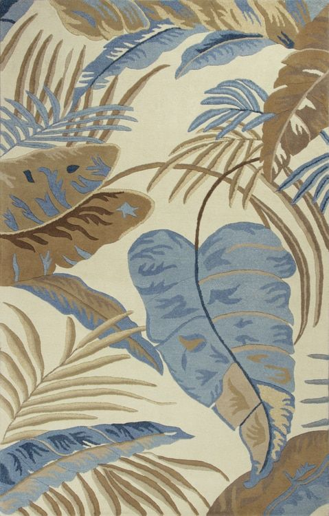 Introducing the Blue Rain Forest Luxury Rug, presented with a hand-tufted rich design and plush feel.
