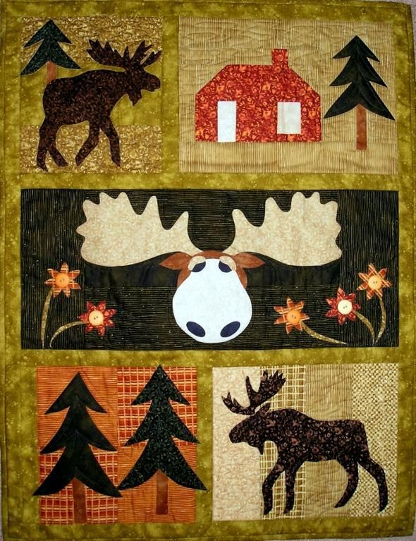 Moose Crossing ... by pgpeddler2634293 | Quilting Pattern - Looking for your next project? You're going to love Moose Crossing Quilt pattern by designer pgpeddler2634293. - via @Craftsy