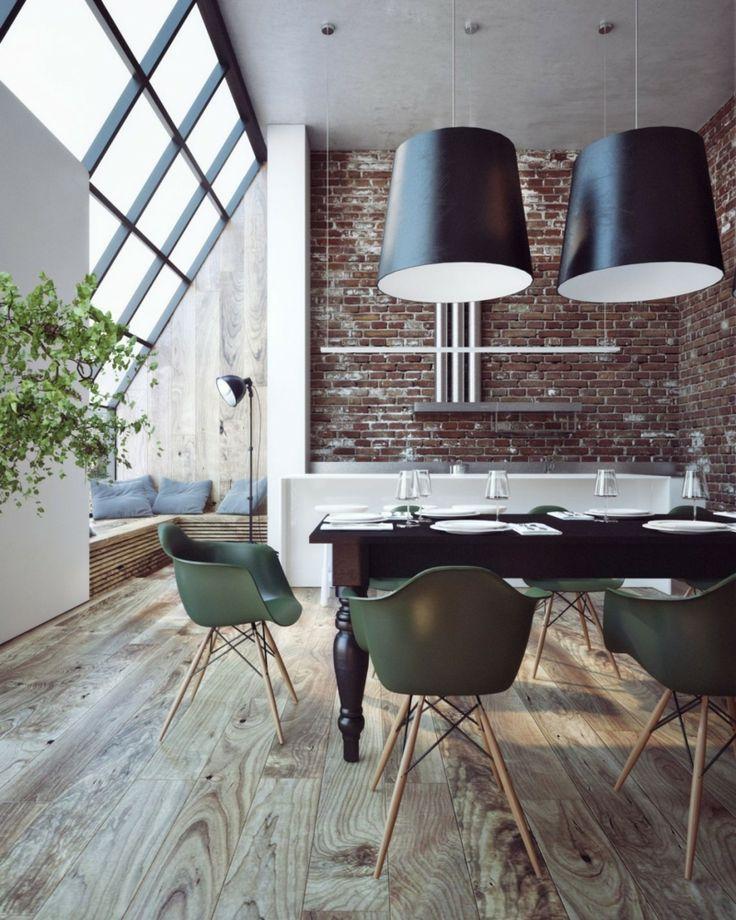 Die besten 25+ Backsteinwand Ideen auf Pinterest Ziegelstein - wohnzimmer grose fensterfront