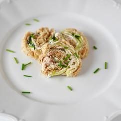 High tea of brunch: sandwich met gerookte makreel en komkommer!