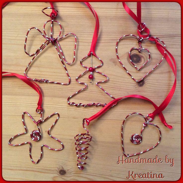 Julepynt i alu-wire