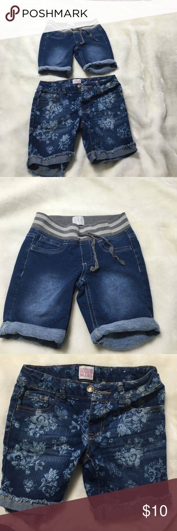 2 Pair of Girls Canyon River Blue Shorts size 7 2 pair of shorts, Canyon River Blues(Sears). Both size 7 Canyon River Blues Bottoms Shorts