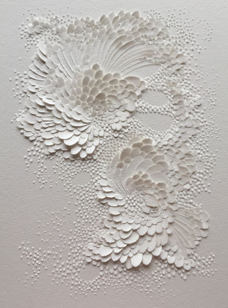 Good inspiration but less romantic Bas-relief en papier aquarelle grain satiné, format 20x15cm // Lauren Collin