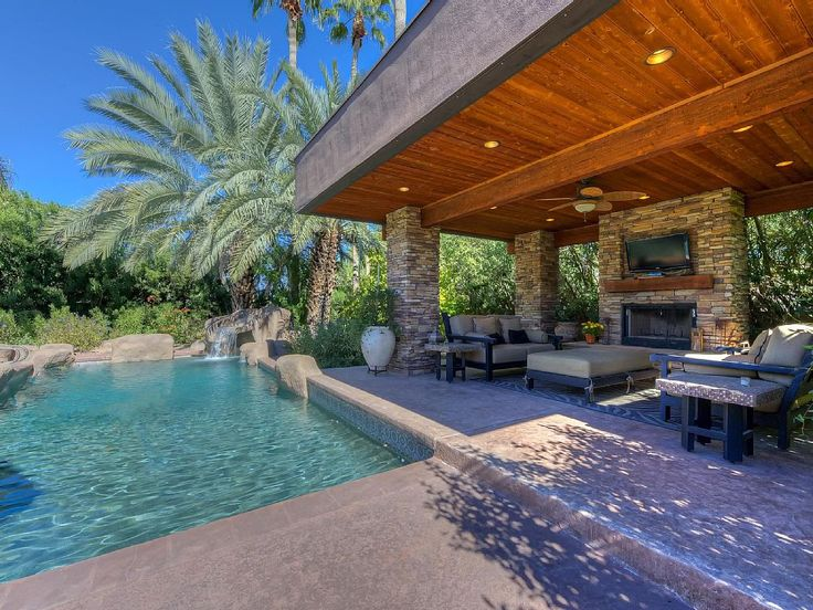 Over An Acre Lot With Pool Ramada Outdoor Fireplace