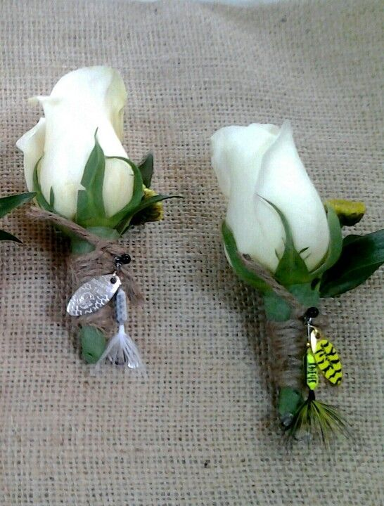 boutonniers from fishing lures   Boutiners with fishing lures