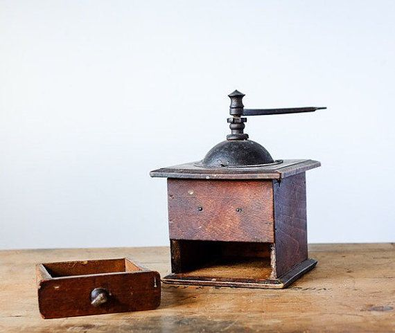 French Coffee Grinder Vintage 1930s Handmade by Metoox on Etsy