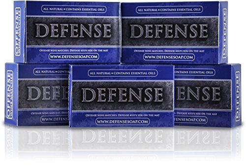 Defense Soap Antifungal 4 Ounce Bar Pack of 5  100 Natural Pharmaceutical Grade Antibacterial Tea Tree Oil and Eucalyptus Oil Helps Wash Away Ringworm Jock Itch Acne Psoriasis Yeast and Athletes Foot >>> You can find out more details at the link of the image.