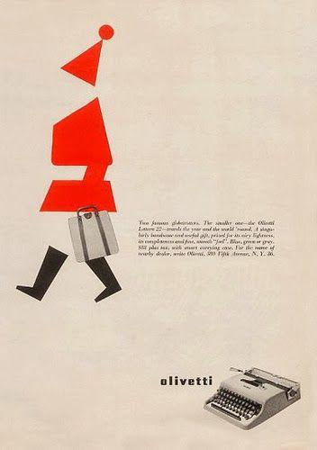 Vintage Italian Posters - Italy. Olivetti Xmas ad.