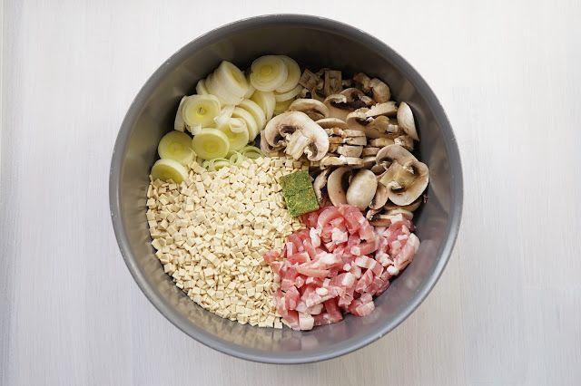 The Cook Time: One pot crozet aux champignons, poireaux et lardon...