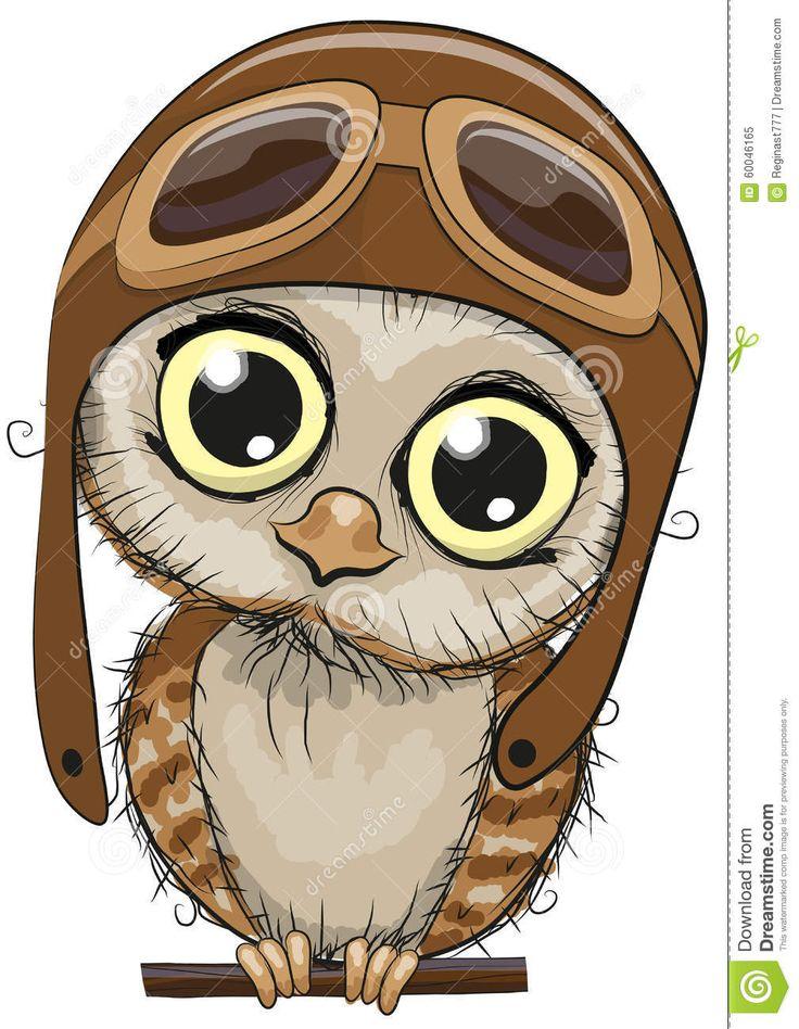 Cute owl stock vector image 60046165 malarstwo - Chouette rigolote ...
