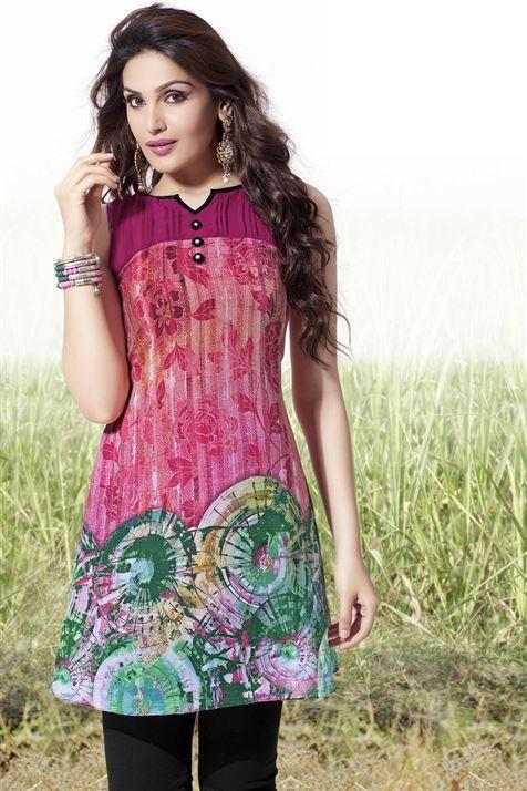 Graceful Multicolor Georgette Stylish Kurti