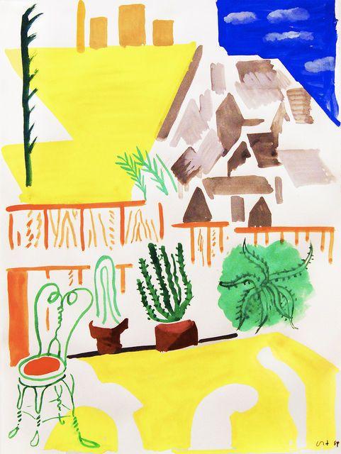 Untitled (Background Echo Park III), David Hockney, 1984
