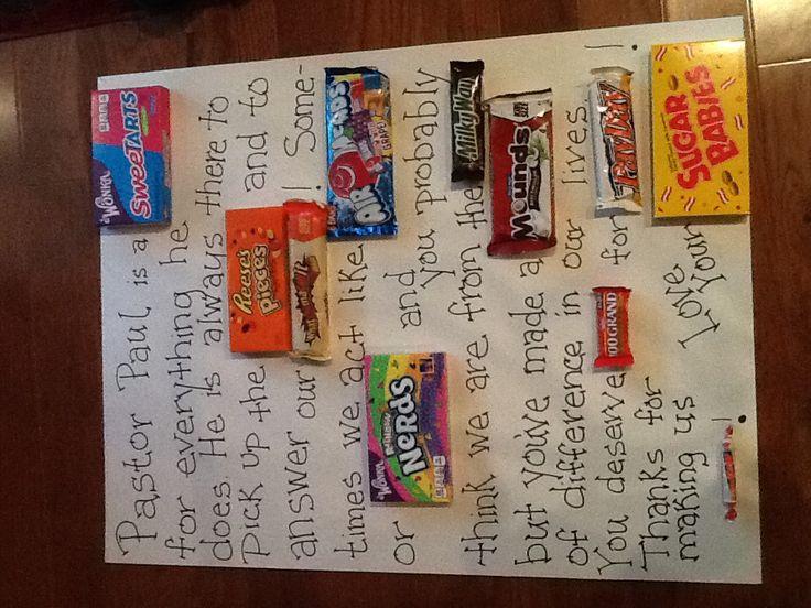 pastor appreciation candy gram