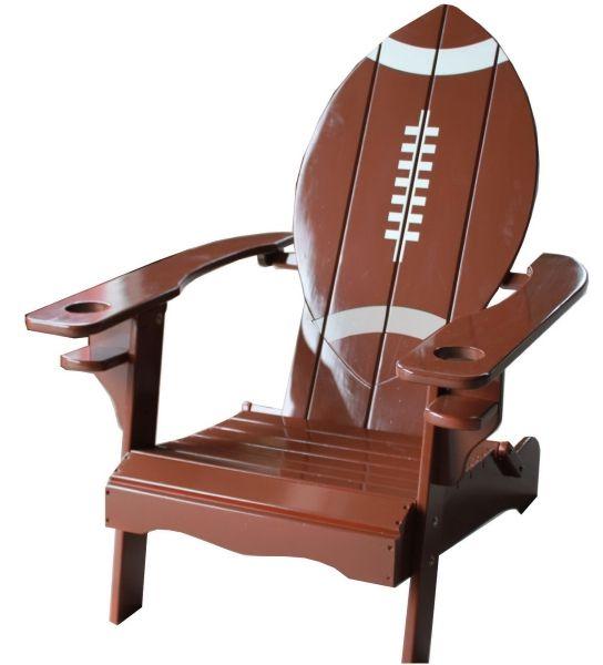 Football Shaped Adirondack Chair from www.schoolspiritstore.com